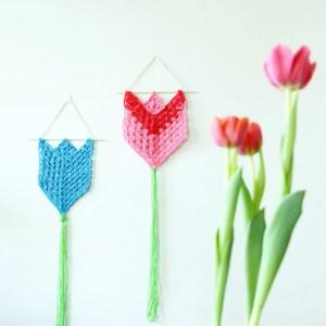 Wall Hanging Tulips