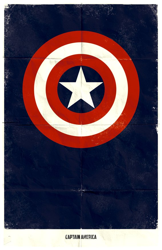 Vamers - Marko Manev - Minimalist Marvel Posters - Captain America