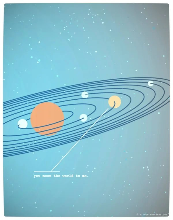 Vamers - Artistry - Minimalist Geek Love Posters - You Mean The World To Me