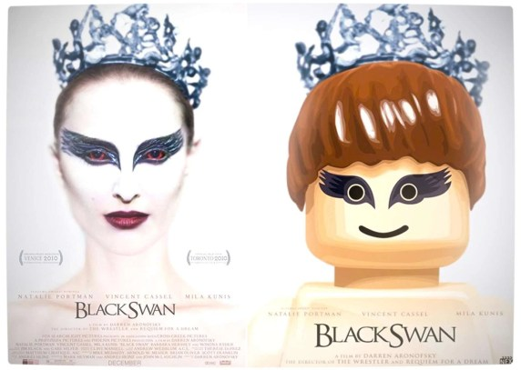Vamers - Fandom - Movie Lego Posters - Black Swan