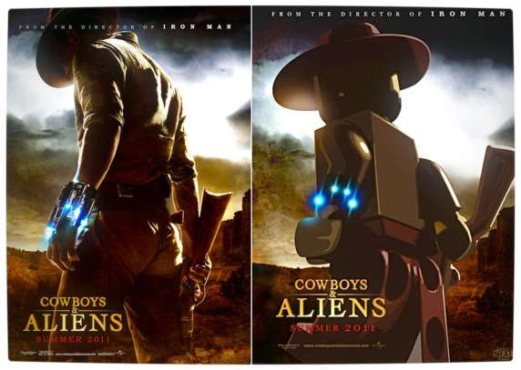Vamers - Fandom - Movie Lego Posters - Cowboys and Aliens