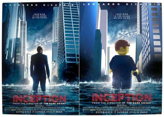 Vamers - Fandom - Movie Lego Posters - Inception