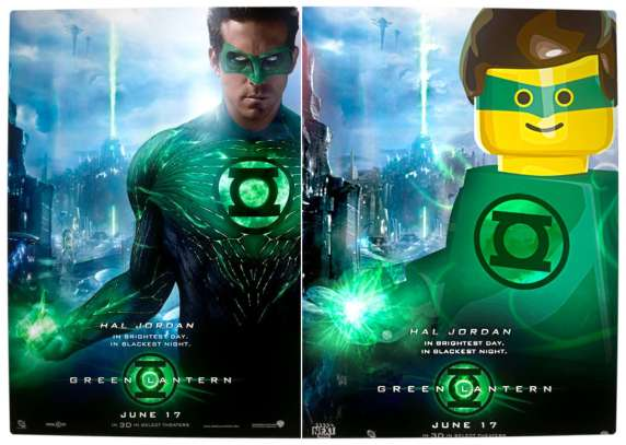Vamers - Fandom - Movie Lego Posters - The Green Lantern