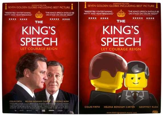 Vamers - Fandom - Movie Lego Posters - The Kings Speech