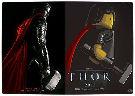 Vamers - Fandom - Movie Lego Posters - Thor
