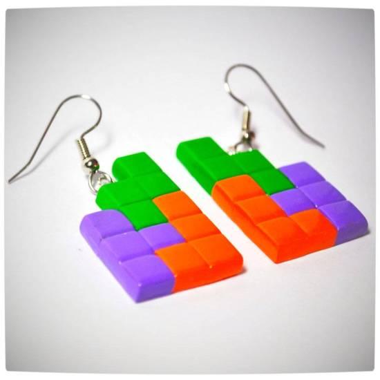 Vamers - Geekosphere - SUATMM - OhMyGeekness by Jess Firsoff - Tetris Earrings