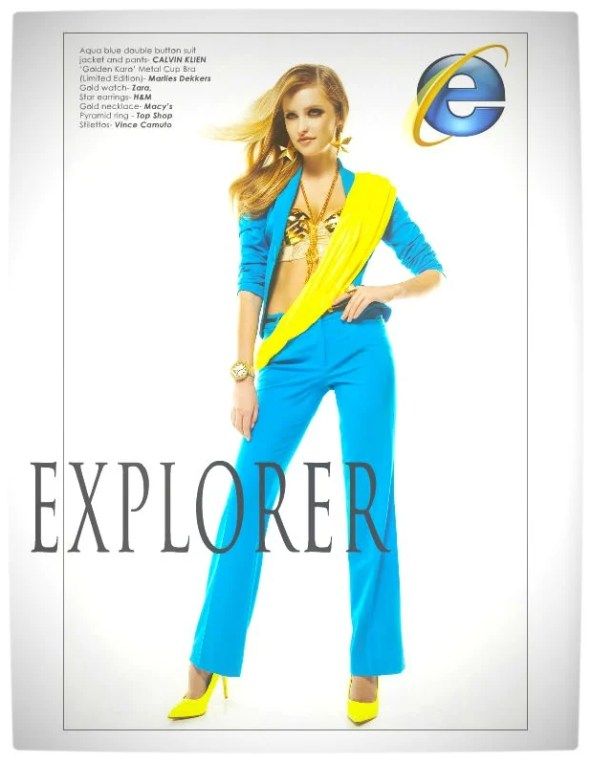 Vamers - Apparel - Ladies Fashion Inspired by Internet Browsers - Viktorija Pashuta - Internet Explorer