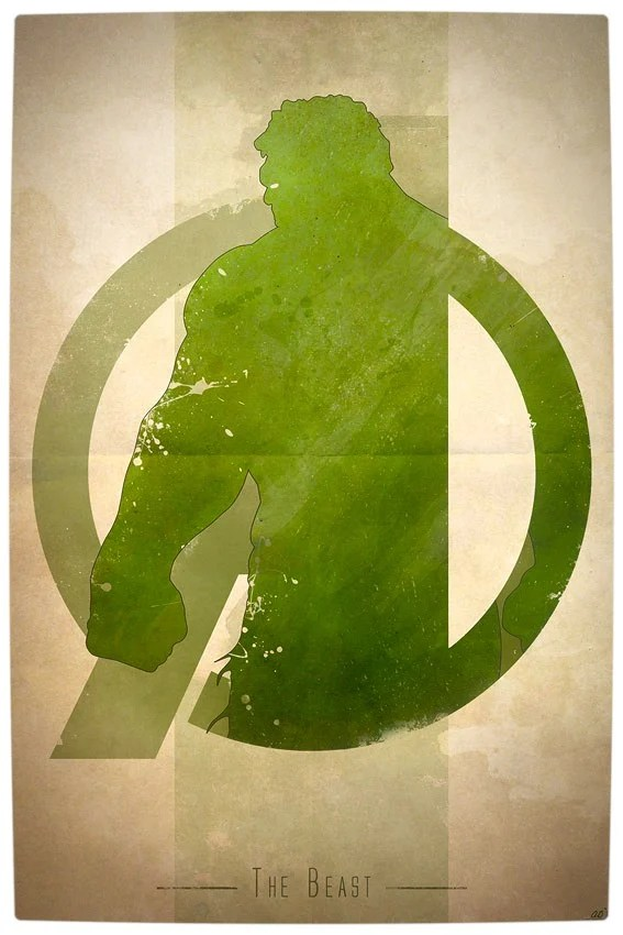 Vamers - Artistry - Anthony Genuardi - Minimalist Avengers Initiative Posters - The Hulk