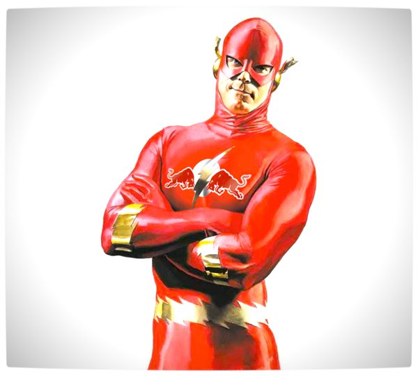 Vamers - Artistry - What if your favourite superhero had a corporate sponsorship - The Flash sponsored by Red Bull 01