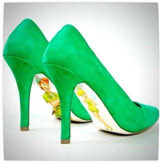 Vamers - G-Life - Sexy Shoes Inspired by Disney Princesses - Peter Pan - Tinkerbell and Peter Pan High Heels