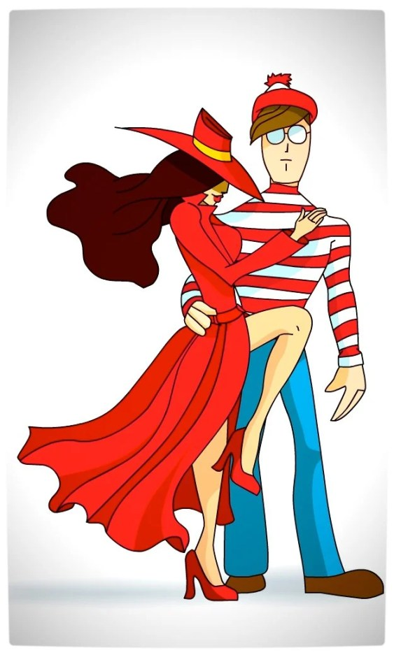 Vamers - Artistry - Carmen Sandiego and Where's Wally - A Perfectly Unfindable Match - Where in the World by Giaaeron