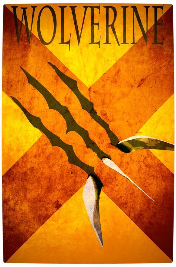Vamers - Artistry - Minimalist X-Men Poster Art - Wolverine