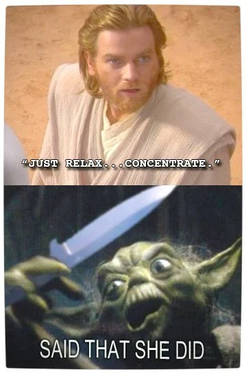 Vamers - Humour - Said That She Did - A Meme By Yoda - Concentrate