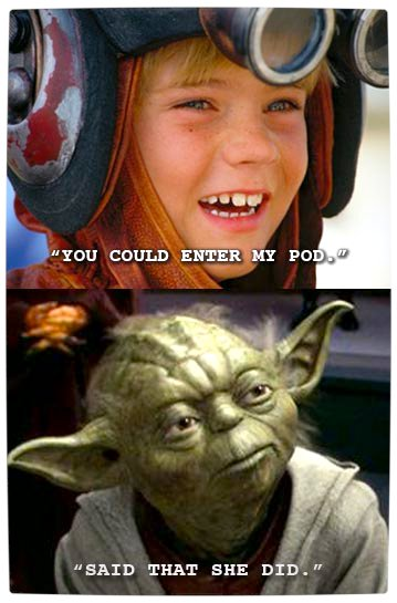 Vamers - Humour - Said That She Did - A Meme By Yoda - Pod