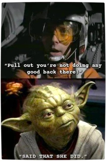 Vamers - Humour - Said That She Did - A Meme By Yoda - Pull Out