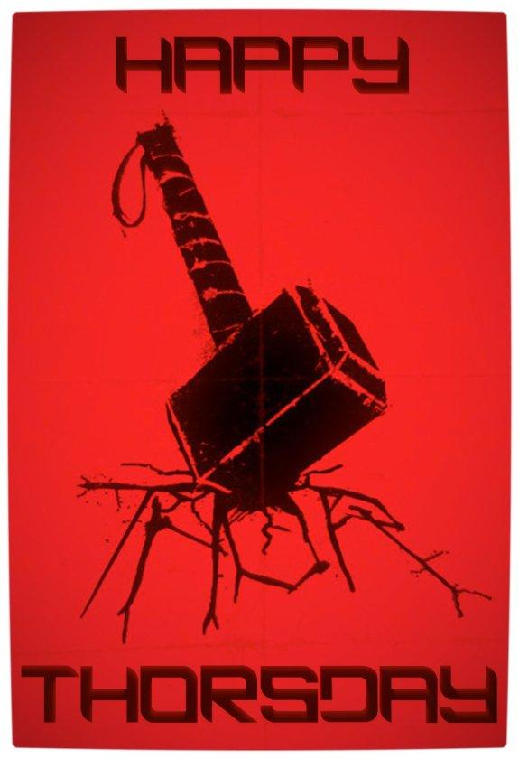 Vamers - Artistry - Happy Thorsday - Minimalist Poster - Vamers Edit