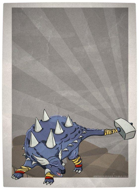 Vamers - Artistry - Superhero Dinosaurs Cretaceously Cool - AnkyloTHORus