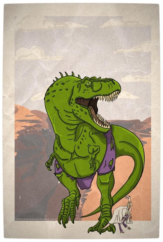 Vamers - Artistry - Superhero Dinosaurs Cretaceously Cool - Hulkasaurus Rex