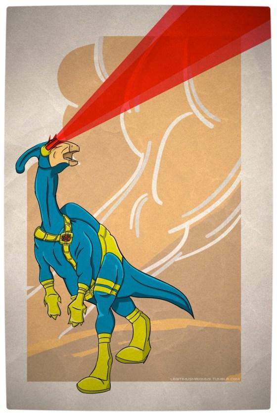Vamers - Artistry - Superhero Dinosaurs Cretaceously Cool - Paracyclophus