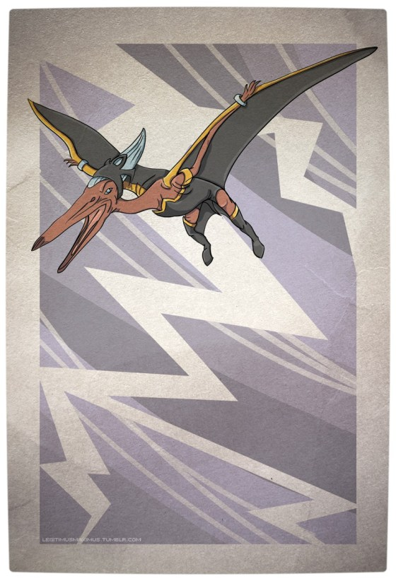 Vamers - Artistry - Superhero Dinosaurs Cretaceously Cool - PteranoSTORM