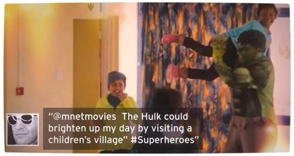 Vamers - FYI - TV - Superheroes Help Brighten South African Cities - The Hulk visits a Childrens Village Proper