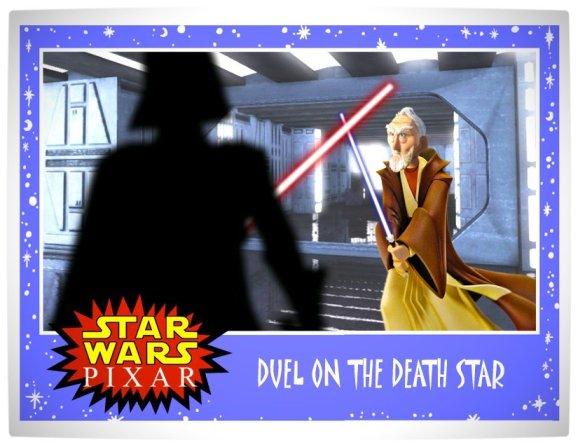 Vamers - Artistry - Star Wars as if it had been created by Pixar - Darth Vader versus Obi Wan Kenobi
