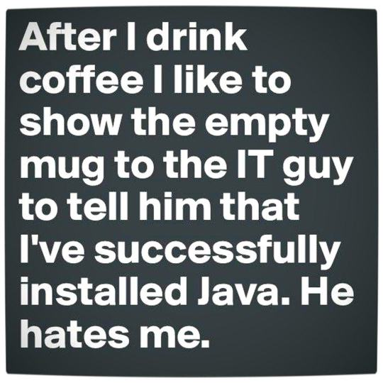 Vamers - Humour - Successfully Installed Java - Main