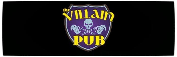 Vamers - Geekosphere - Loki's shares a Pint with Some Villains on Puza Thorsday - The Villain Pub Logo