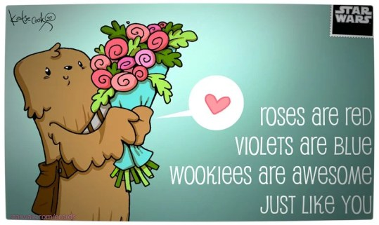 Vamers - Geekosphere - Say 'I Love You' with these Star Wars Valentines e-Cards - Wookie Love