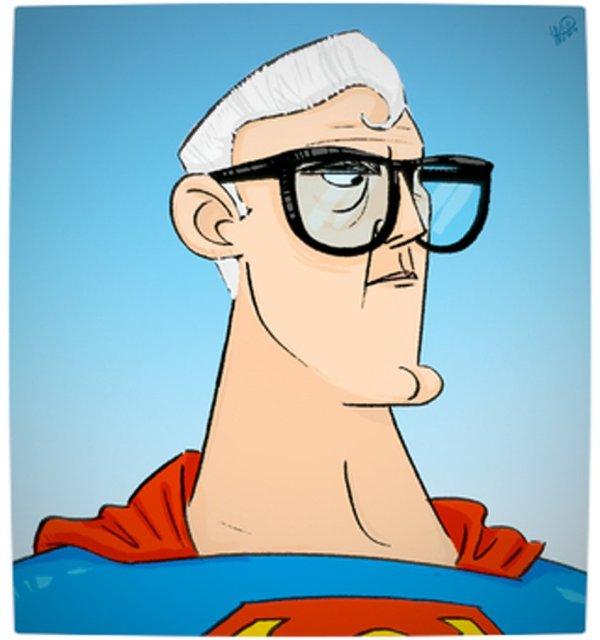 Vamers - Geekosphere - Artistry - Old Superheroes - Heroes in in their Golden Years - Art by Lelpel - Superman