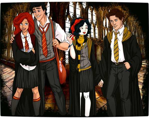 Vamers - Artistry - Mash-Up - 'Disney at Hogwarts' Imagines Disney Royalty as Harry Potter's Peers - Art by Eira1893 - Disney at Hogwarts 01