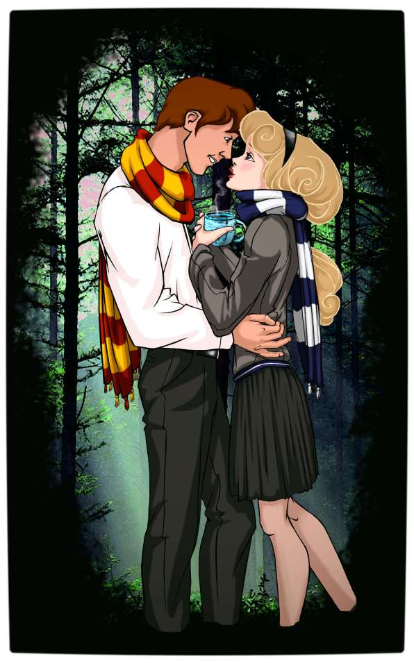 Vamers - Artistry - Mash-Up - 'Disney at Hogwarts' Imagines Disney Royalty as Harry Potter's Peers - Art by Eira1893 - Disney at Hogwarts 02