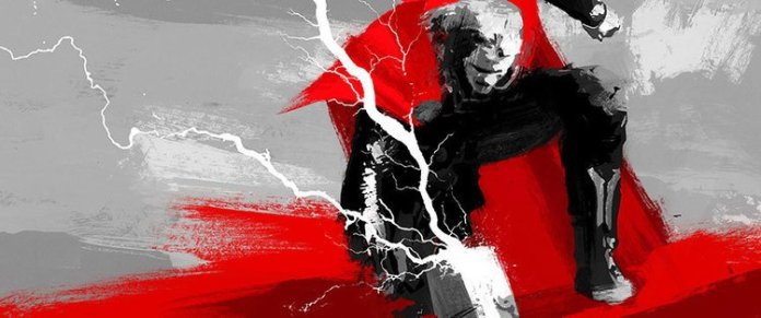 Vamers - Artistry - Thorsday - Enjoy the End Credits Artwork for 'Thor- The Dark World' on Thorsday - Thor Hammer Strike