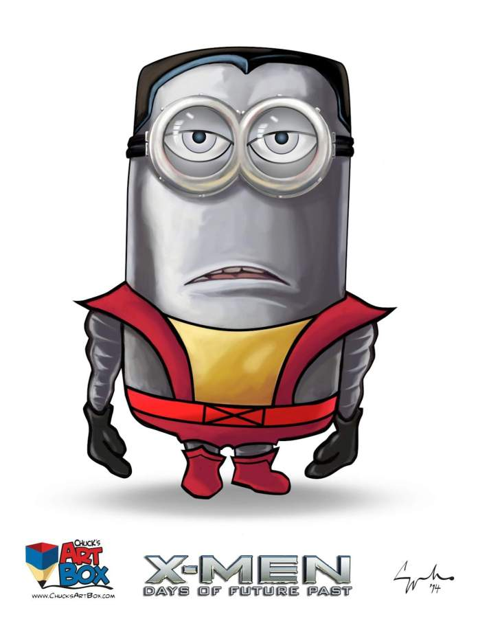 Vamers - Artistry - X-MINIONS Days of Future Past - Despicable Me Minions as X-MEN - Colossus