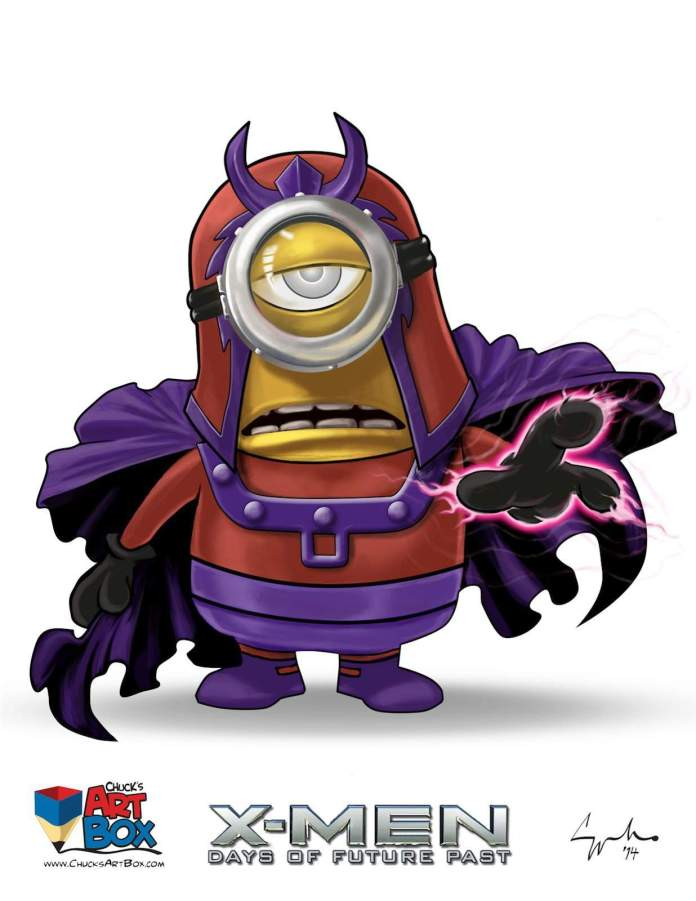 Vamers - Artistry - X-MINIONS Days of Future Past - Despicable Me Minions as X-MEN - Magneto