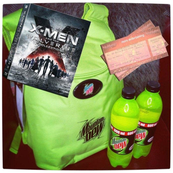 Vamers - Win With Vamers - Win X-Men- Days of Future Past Hampers with Vamers and Mountain Dew - Main Hamper Prize Details