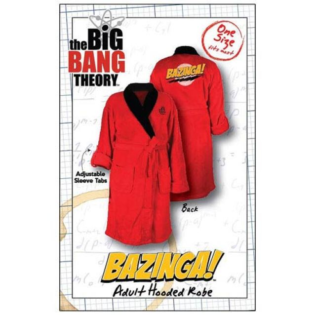 Vamers - Geekmas Gift Guide - Big Bang Theory 'Bazinga' Bath Robe