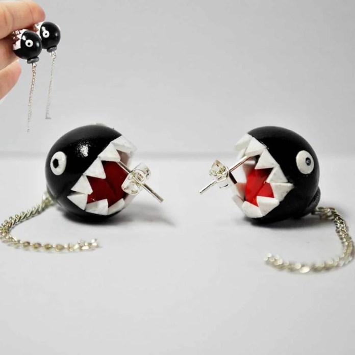 Vamers - Geekmas Gift Guide - Nintendo Mario Chain Chomp Earrings