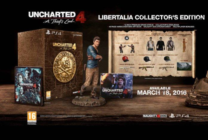 Vamers - FYI - Gaming - Uncharted 4 Release Date Announced and Collector's Editions Detailed - Collector's Edition
