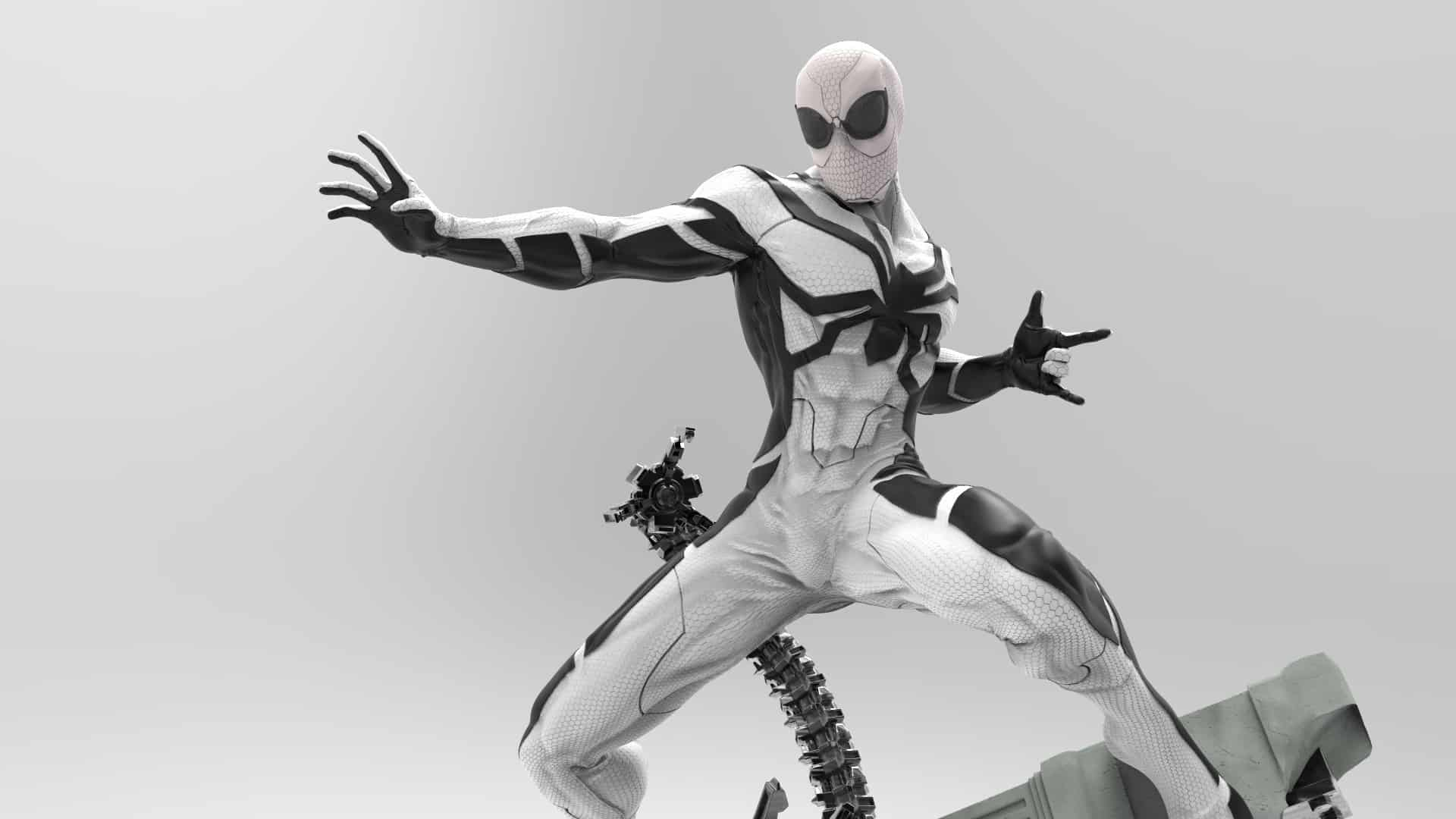 2196b1a90cc25 ... one-off Spider-Man costume. I bet you are starting to see a pattern!  The Future Foundation Spider-Man (FF Spider-Man) first appeared in  Fantastic Four ...