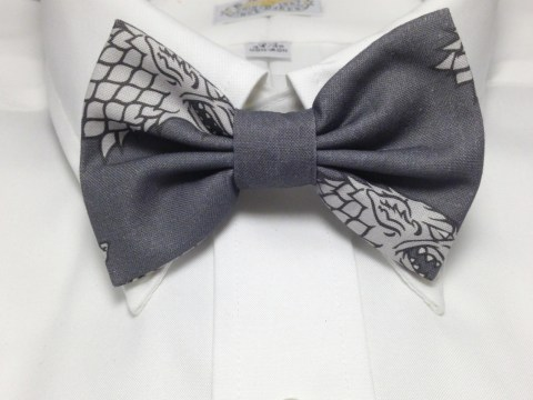 Vamers Store - South Africa - Merchandise - Apparel - Bowtie - Game of Thrones Inspired House Stark Sigil Bowtie 01
