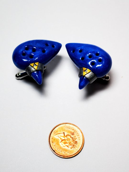 Vamers Store - Merchandise - Geek Chic - Accessories - Cufflinks - Legend of Zelda Inspired Ocarina of Time Cufflinks 03