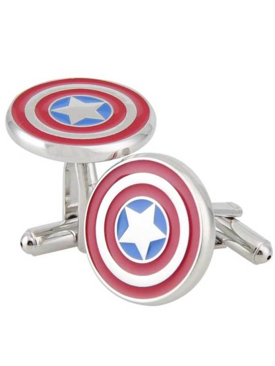 Vamers Store - Merchandise - Geek Chic - Accessories - Cufflinks - Captain America Inspired Shield Cufflinks 02