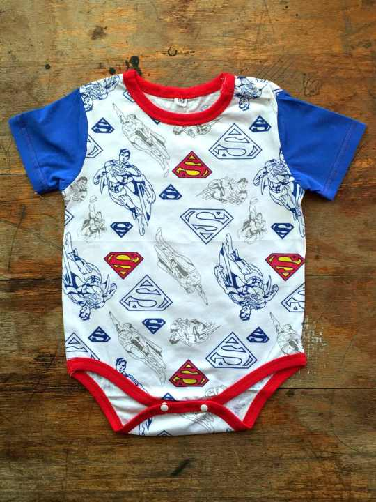 Vamers Store - Apparel - Baby Clothing - Superman Print Baby Grow Romper - Front