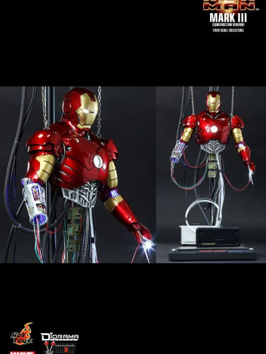 Vamers Store - Hot Toys - DS003 - Iron Man - Iron Man Mark III (Construction Version) - 01