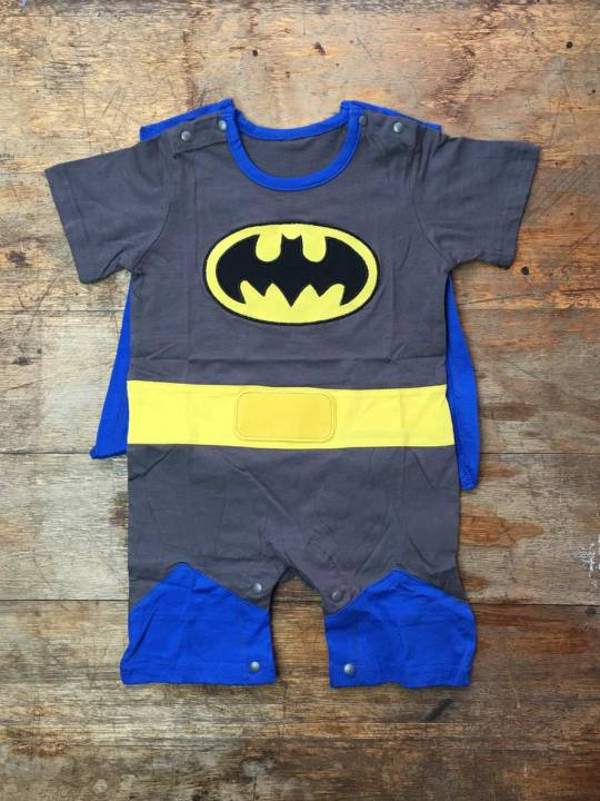 Vamers Store - Apparel - Baby Clothing - Batman Suit with Cape Baby Grow Romper - 03