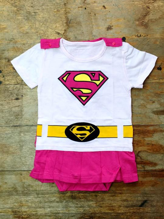 Vamers Store - Apparel - Baby Clothing - Supergirl Suit with Cape Baby Grow Romper - 03