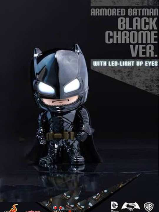 Vamers Store - Hot Toys - COSB-ABCB - DC Comics Batman v Superman Dawn of Justice - Cosbaby Armoured Batman (Black Chrome Version) - 04