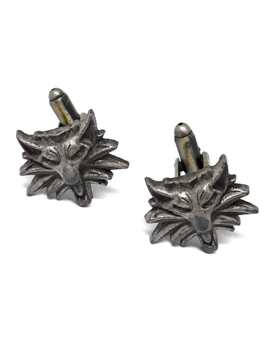 Vamers Store - Merchandise - Geek Chic - Accessories - Cufflinks - Witcher Wolf Cufflinks inspired by The Witcher - Main 01