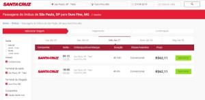 Consulta de passagens Santa Cruz 300x146 - Ouro Fino como chegar? Opções de empresas de ônibus que realizam o trajeto